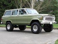Wanted old american jeeps xj yj cj mj wagoneer comanche