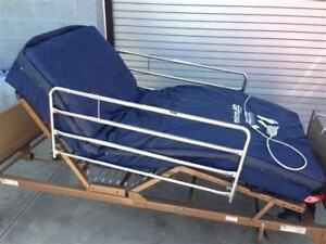 Hospital bed and matress