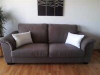 Attractive and Comfortable Three-Seat sofa Grey-Brown