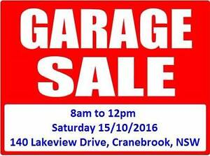 GARAGE SALE - 8am to 12pm Sat 15/10/2016 - Cranebrook, NSW Cranebrook Penrith Area Preview
