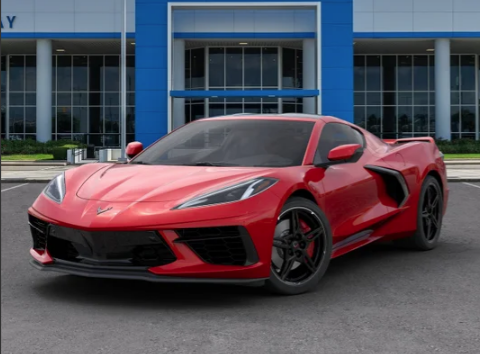 2020 Chevrolet Corvette Stingray Coupe 3LT Z51 Mag Ride Torch Red Front Lift