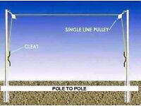 WASHING LINE POLES
