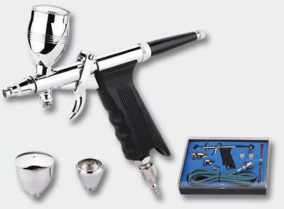 Einsteiger Airbrushpistolen Spritzpistolen Druckluft Set Typ 119 Düsen