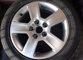 Alloy wheel for audi a4 a5 2005 - continental tyre mint condition 205 55 r 16