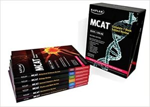 MCAT Kaplan Books - Complete 7 Book Subject Review + Quicksheets