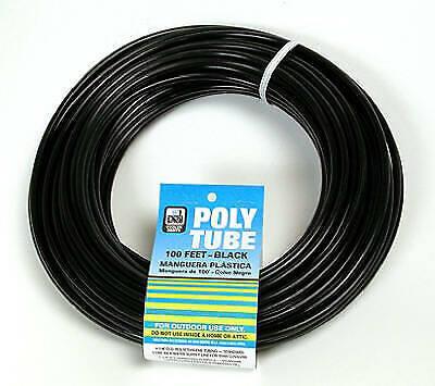 Evaporative Cooler Poly Tube, Black, 1/4-In. OD x 100-Ft.