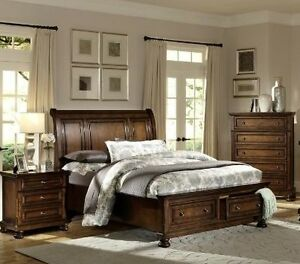 Queen Porter bed frame, drawer chest, & night table,NEW IN BOXES