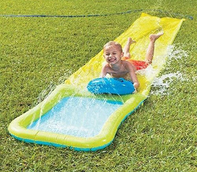 how to play on a slip and slide