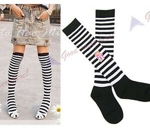 Fashion-Girls-Womens-Thigh-High-Socks-Stripe-Over-Knee-Legging-Socks-Stripe