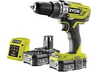 Ryobi ONE+ 2Ah Cordless Combi Drill with 2 Batteries & Charger BRAND NEW