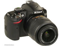 NIKON D3200 WITH 18-55M NIKON LENS, AND CARRY BAG INCLUDED