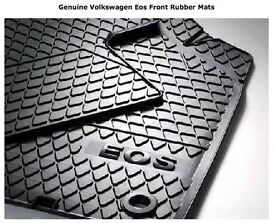 Genuine Volkswagen Eos Front Rubber Mats (AS NEW with VW Receipt)