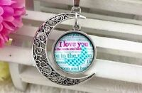 """""""I Love You to the Moon and Back"""" Pendant with Necklace!"""