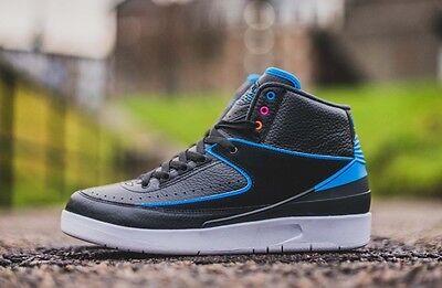 Mens Nike Air Jordan II 2 Retro Sneakers New, Radio Raheem Black Blue 834274-014