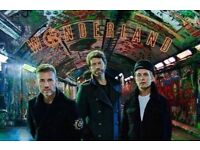 2 x standing tickets TAKE THAT Newcastle 8th May