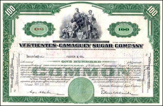 Vertientes - Camaguey Sugar Company - 1949