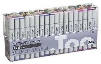 Copic Sketch Marker Set - 72 Pens - Set E (Copic Marker Sketch Set E)
