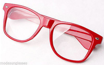 RETRO Vintage Men Women Unisex Nerd Frame Trendy Clear Lens Eye Glasses (Trendy Glasses For Men)