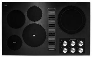 "KITCHENAID NEW KCED606GBL 36"" BLACK  COOKTOP (BD-1508)"