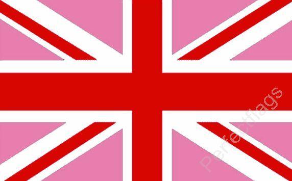 UNION JACK PINK RED GAY PRIDE FLAG - UNITED KINGDOM FLAGS - 3x2, 5x3 Feet