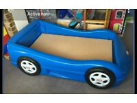 Little tikes race car bed blue. Up to age 6/7.