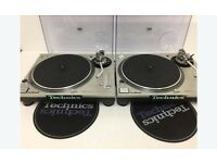 x2 Pair Technics SL - 1200 MK2 Direct Drive DJ Decks Turntables Mint Condition