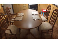 Extendable Dining Table Plus four chairs