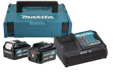 Makita Power Source Kit 10,8V Starter-Set 2x 4,0 Ah Akku + Ladegerät im MakPac
