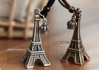 Retro Fashion Personality Eiffel Tower Crown Necklace