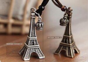Retro Fashion Personality Eiffel Tower Crown Necklace