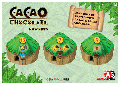 Brettspiel Advent Calendar Promo #16: Cocoa Chocolatl, New Huts, english/German