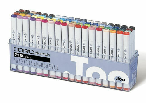 Copic Sketch Marker 72 Color Set A Premium Artist Markers