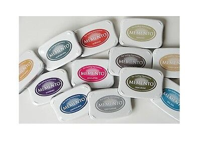 TSUKINEKO MEMENTO LARGE RUBBER STAMP INK  PAD FAST DRYING FADE RESISTANT DYE (Large Stamp Pads)