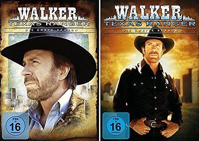 14 DVDs  * WALKER TEXAS RANGER - SEASON 1 + 2 IM SET   CHUCK NORRIS # NEU OVP + ()