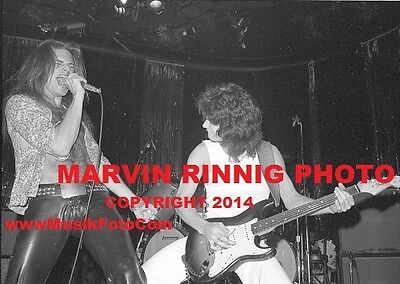 "VAN HALEN-DAVID LEE ROTH,EDDIE VAN HALEN PHOTO 1976 8x11"" RARE @ WHISKY A GO GO"