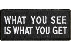 WHAT YOU SEE IS WHAT YOU GET   BIKER  PATCH