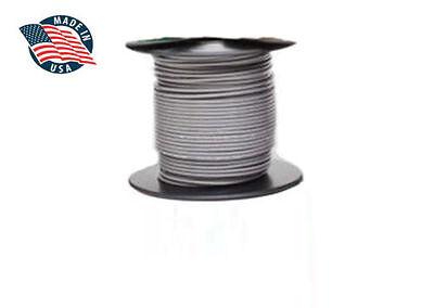 50ft Milspec High Temperature Wire Cable 18 Gauge Gray Tefzel M2275916-18-8