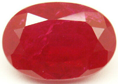 15x10 mm 13 cts oval cut Diffusion lab created Ruby