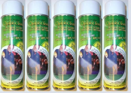 5 Quick Clean Cans, Pool Table Felt Cloth Cleaner, Easy To Use - SHIPS FAST!