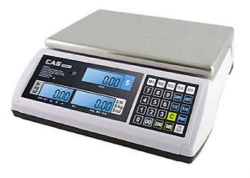 CAS S-2000 JR Series Price Computing Scale LCD Display 60LB