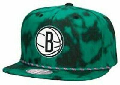New Mitchell & Ness NBA Snapback Hat - Brooklyn Nets Greenback