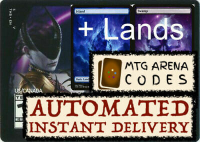 MTG MTGA MAGIC Arena code card : Planeswalker Deck Theros Ashiok + LANDS INSTANT