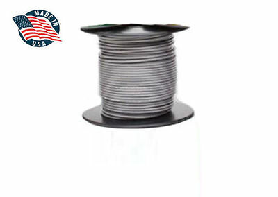 15ft Milspec High Temperature Wire Cable 18 Gauge Gray Tefzel M2275916-18-8