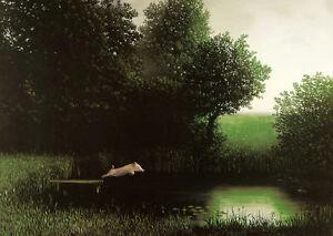 Diving Kohler's Pig Michael Sowa Art Print When Pigs Fly Flying Off Dock Poster