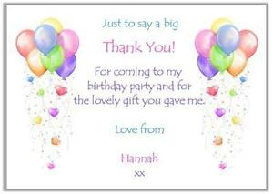 Birthday thank you cards ebay childrens birthday thank you cards m4hsunfo