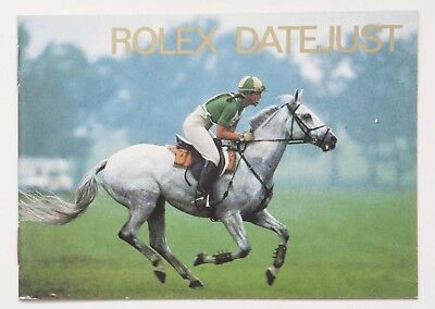 Genuine Rolex DATEJUST Vintage 1997 English Manual Booklet Papers Book Guide