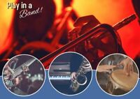 Play in a Band! Youth & Adult Ensembles. Free trial class!
