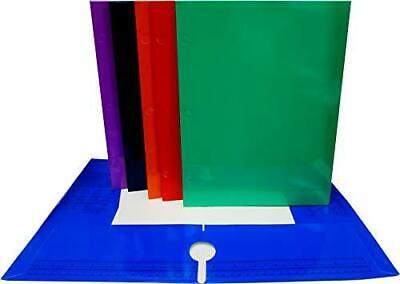 Auksales 4 Pockets Folders Laminated Asst Colors With Holes In Display Case