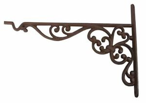 Cast Iron Decorative Bracket with Hook Plant Hook Hanging Flower Basket Hooks
