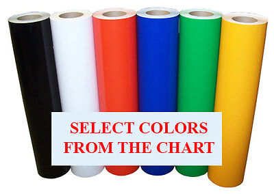 5rolls Pack 24x10ft Semi Gloss Sign Vinyl 6yr Outdoor For Signsdecals34colors